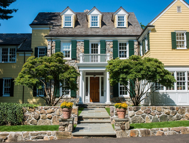 Home Exterior Paint Color. Traditional Home Exterior Paint Color Ideas. #HomeExteriorPaintColor Via Sotheby's Homes.
