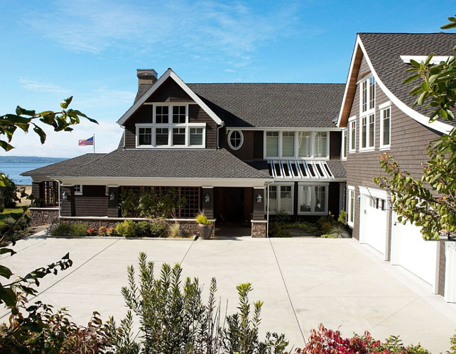 Home Exterior with Triple Attached Garage Ideas. #HomeExterior #ThreeGarage #AttachedGarage #TripleGarageHome Dan Nelson, Designs Northwest Architects.