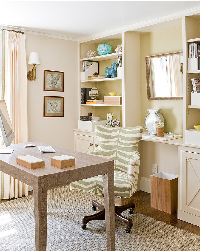 Home Office Furniture Ideas. This home office has stylish and beautiful furniture. #HomeOfficeFurniture #HomeOfficeIdeas #HomeOfficeDesign