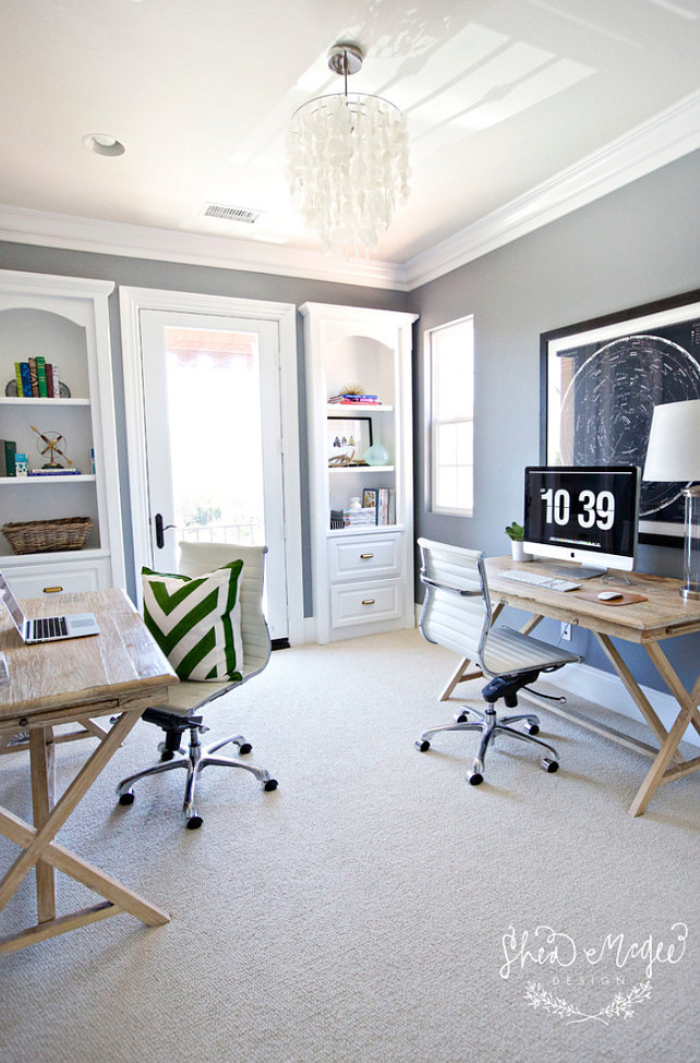 Home Office Layout. Shared Home Office Layout #Homeofficelayout #Sharedhomeoffice Studio McGee.