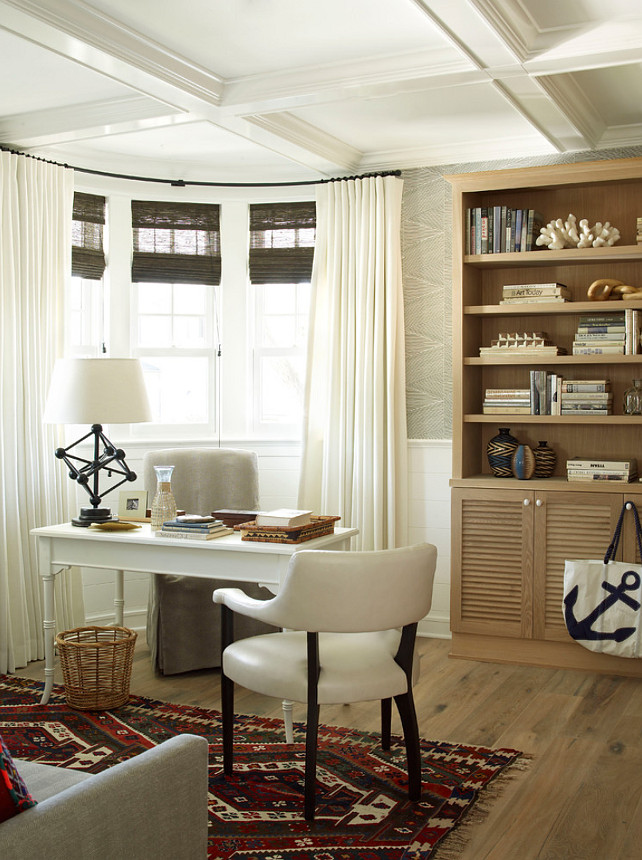 Home Office Storage. Home Office buit-in bookcase storage ideas. #HomeOffice #Storage #Bookcase Burnham Design.