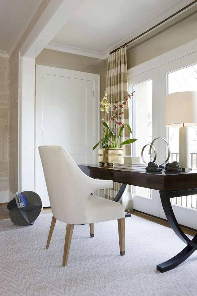 Home Office. Classy Home Office. #HomeOffice Michael Hampton Design.