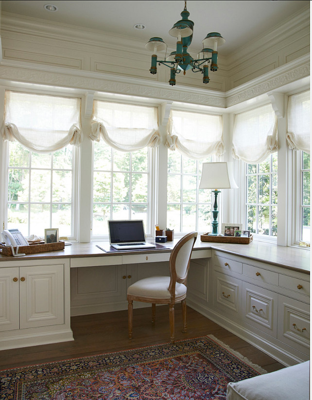 Home Office. Feminine Home Office Ideas. Hers Home Office Design. #HomeOffice #Office #Interiors