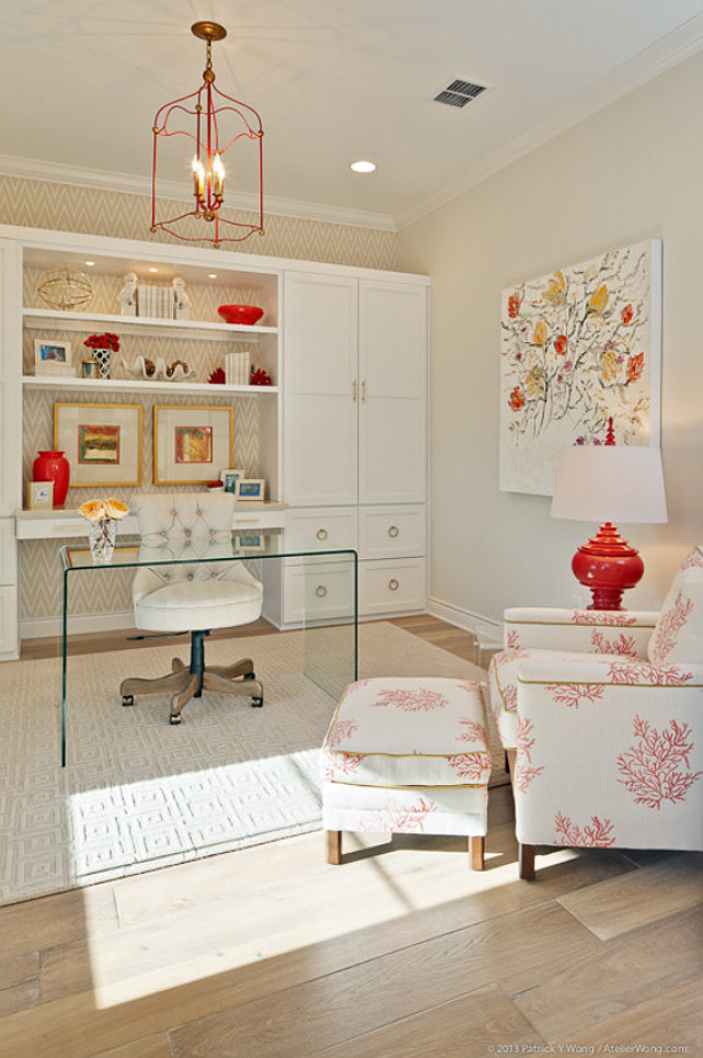 Home Office. Home Office Cabinet. Home Office Lucite Desk. Home Office Ideas. Home Office Design. #HomeOffice Butter Lutz Interiors, LLC.