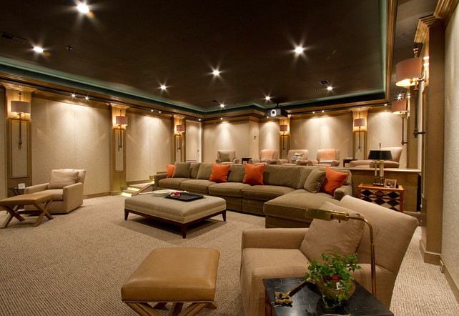 Home Theater Design. Home Theater Carpeting. Home Theater Layout. Home  Theater Furniture Layout