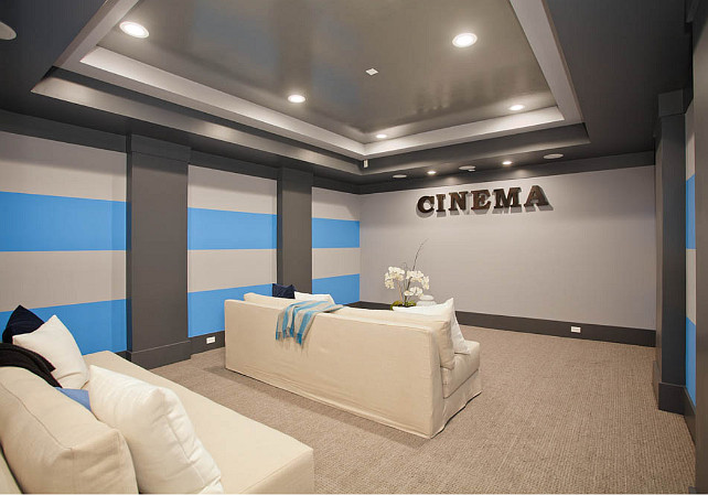 Family home with transitional interiors home bunch Home theater colors
