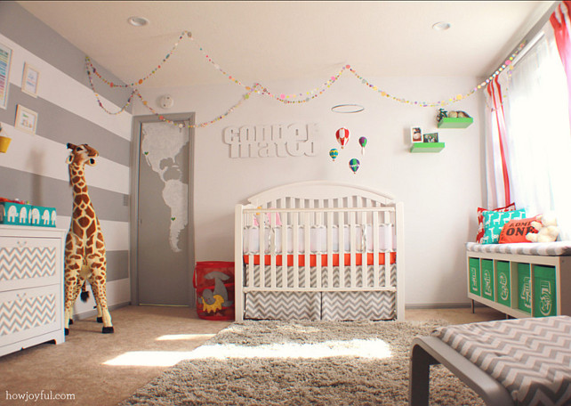 Nursery. Modern Nursery Design Ideas. #Nursery