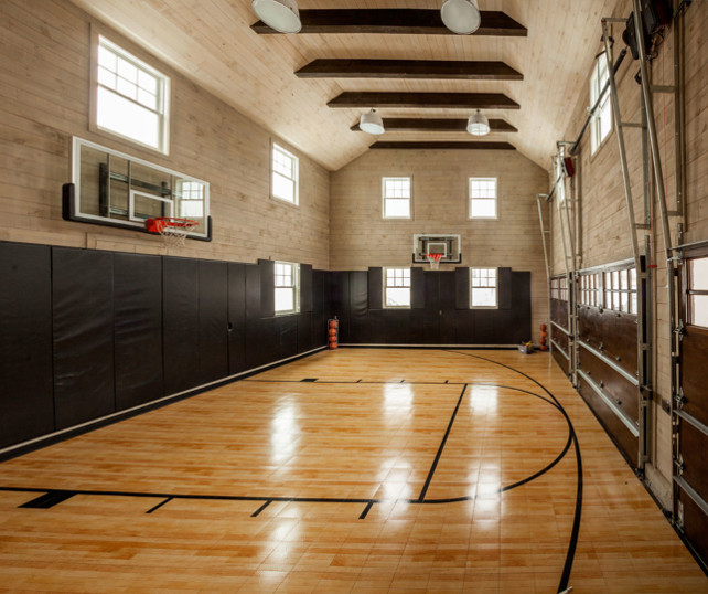 East coast inspired family home home bunch interior for How much would an indoor basketball court cost