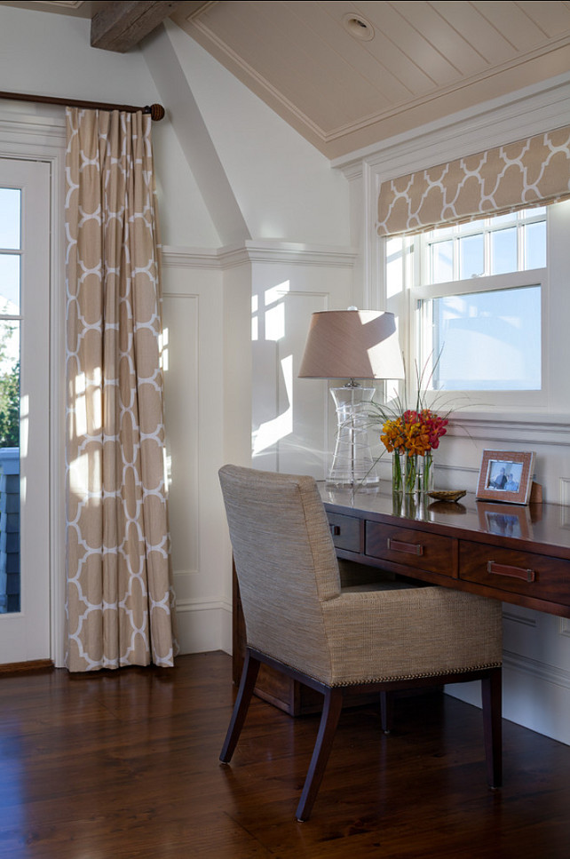 Interior Design Ideas. Beautiful fabric, color palette. Interior design ideas. Ceiling Paint Color Benjamin Moore Brandy Cream OC-4 #InteriorDesignIdeas