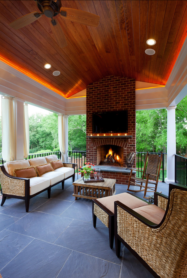 porch design ideas inviting porch with fireplace comfortable patio