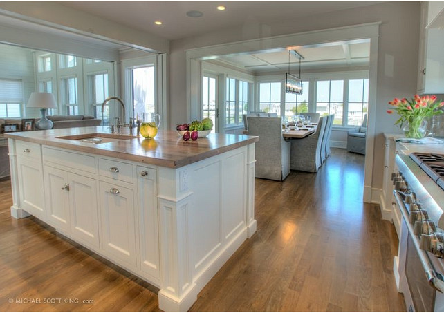 kitchen dining family room design. KItchen  Neutral Kitchen Ideas NeutralKitchen NeutralKitchenDesign The kitchen open to the dining room and family Beach House with Transitional Interiors Home Bunch Interior
