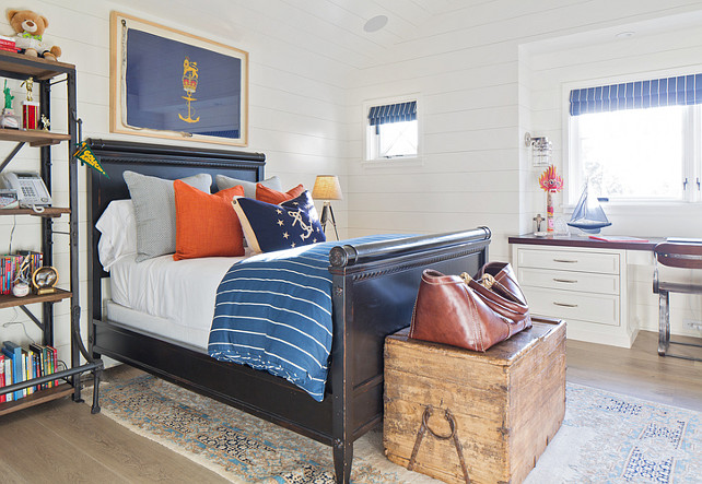 Kids Bedroom. Coastal kids bedroom. Kelly Nutt Design.