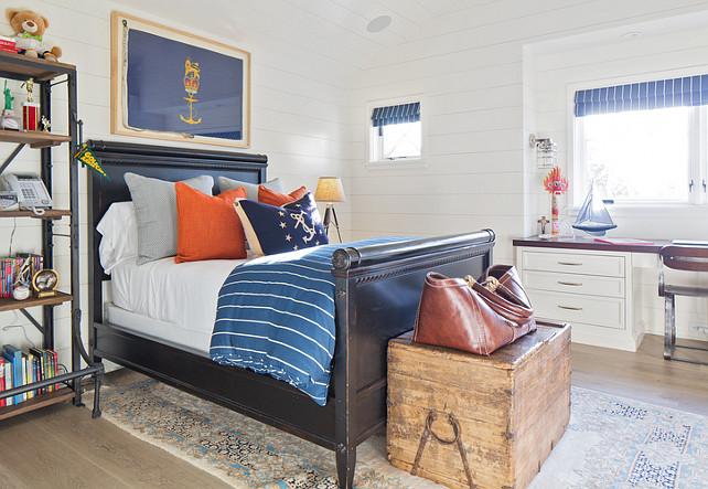 Kids Bedroom. Coastal kids bedroom. Kelly Nutt Design.