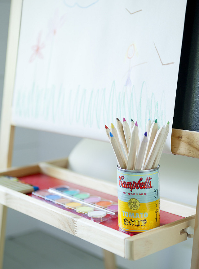 Kids Playroom Art Area. Jenny Wolf Interiors.