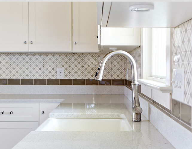 Kitchen Backsplash. Kitchen Backsplash and quartz countertop. #Kitchen #KitchenBacksplash #KitchenQuartz