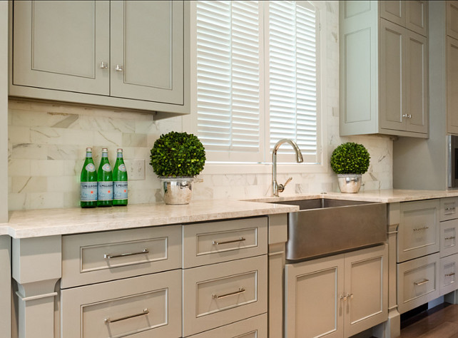 Gallery Of Kitchen Backsplash White Marble Subway Tile Ideas With