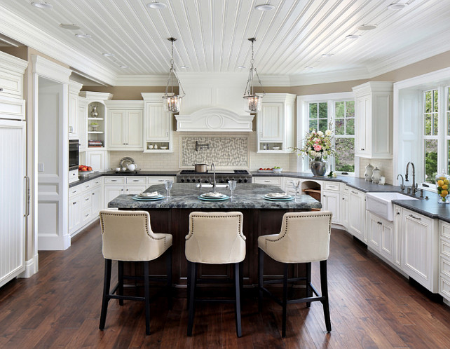 Kitchen Beadboard. Kitchen Beadboard Ceiling. Kitchen Beadboard Cabinet. #KitchenBeadboard #KitchenBeadboardCeiling #KitchenBeadboardCabinet Bernard Andre Photography.