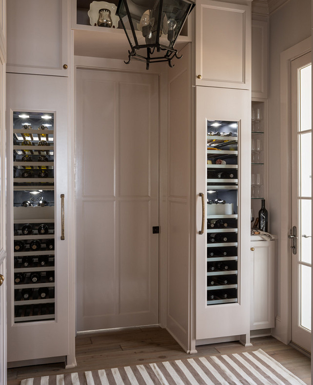 Kitchen Cabinet Ideas. Kitchen Cabinet Design. Wine columns by Thermador located in the kitchen. #Kitchen #KItchenCabinet #WineCooler Reu Architects.