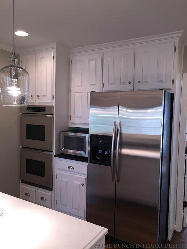 before after kitchen reno with painted cabinets home