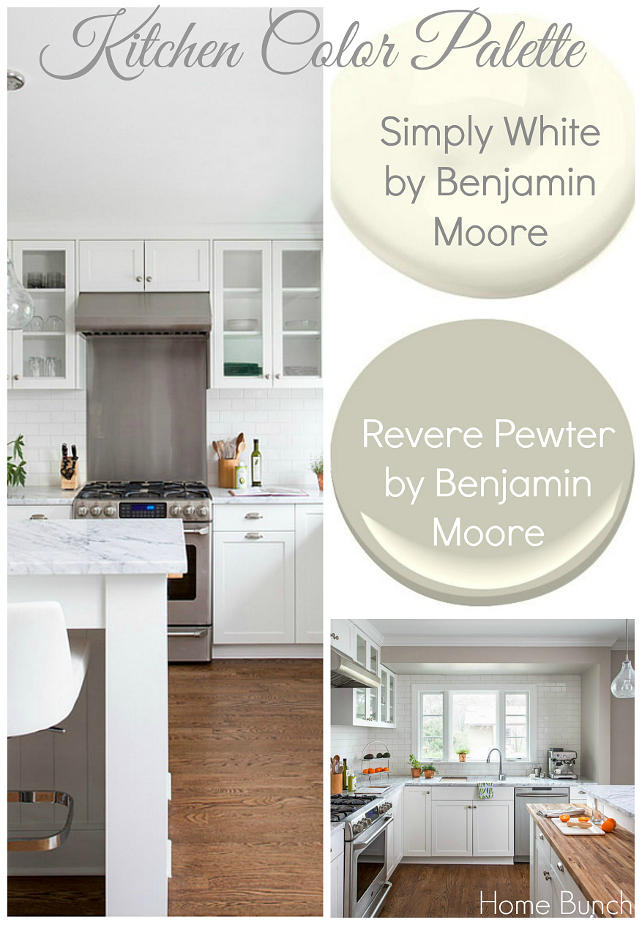 Kitchen Color Palette Whole Cabinet Paint Is Benjamin Moore