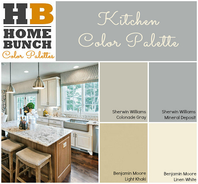 Kitchen Color Palette. Sherwin Williams Colonade Gray, Sherwin Williams  Mineral Deposite. Benjamin Moore