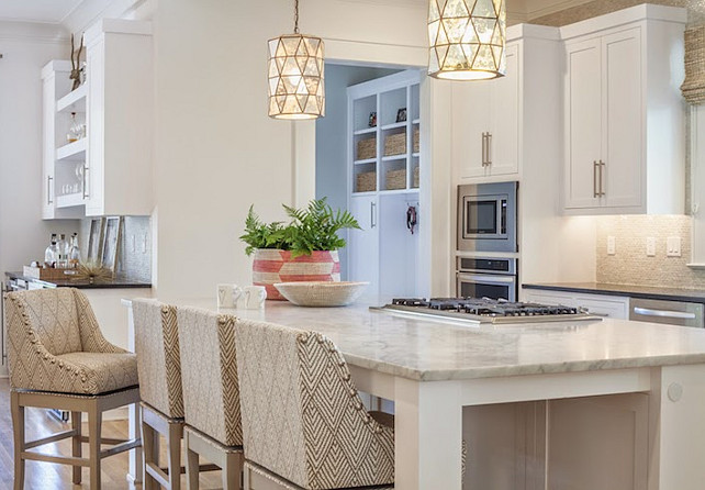 Kitchen Counter Stool Ideas. Kitchen Counter Stool. The kitchen counter stools are the Marcello bar stools from Ballard Designs. #KitchenCounterStool Lucy and Company.