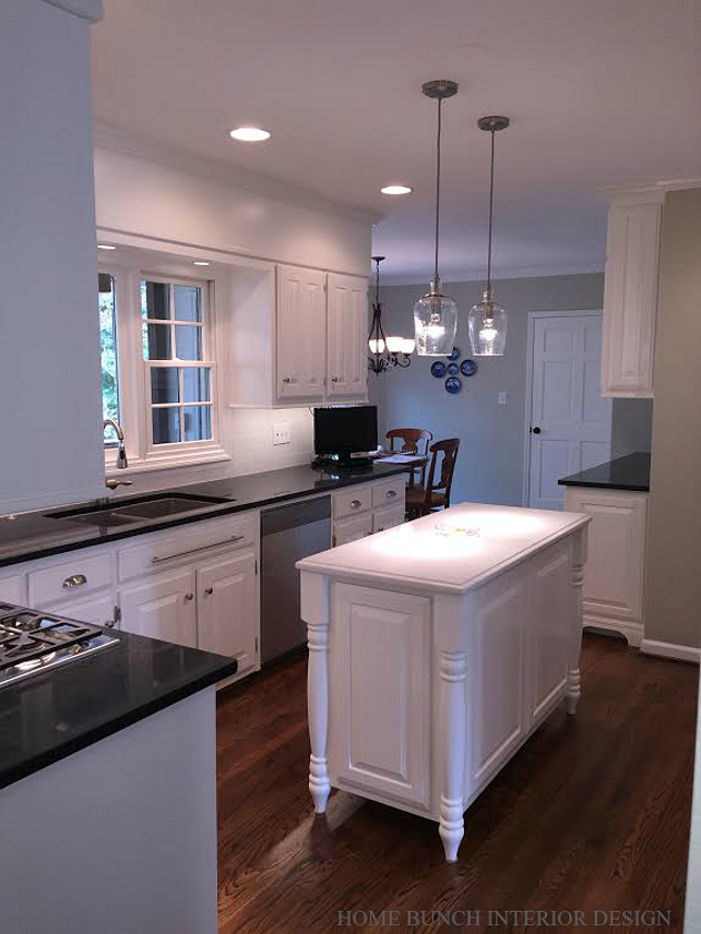 Kitchen Counter Top. Kitchen Perimeter and Kitchen Island Counter Top Ideas. Black Kitchen Perimeter and White Kitchen Island. #KitchenCountertop Home Bunch Interior Design.