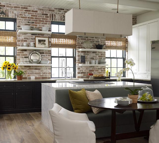 Kitchen Countertop Combination. Perimeter countertop is concrete. Island countertop is Carrera marble. #Kitchen #KitchenCountertop #PerimeterandIslandCountertop Kevin Spearman Design Group, Inc.