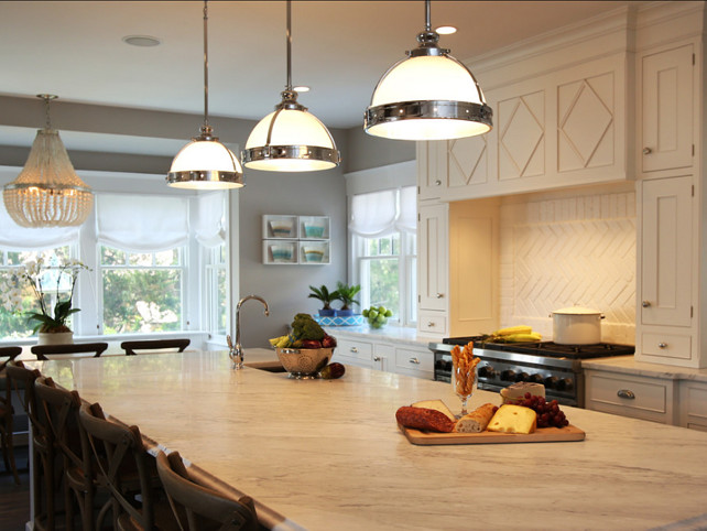 Kitchen Countertop. Kitchen marble countertop. The countertop in this kitchen is honed carrara marble, a very popular choice for white marbles. #KitchenCountertop #MarbleCountertop #PopularWhiteMarble #MarbleCountertop #CarraraMarble.