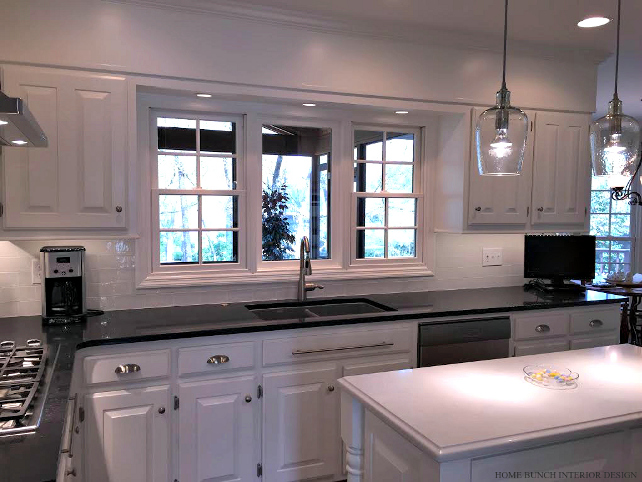 Before after kitchen reno with painted cabinets home for Anderson kitchen cabinets