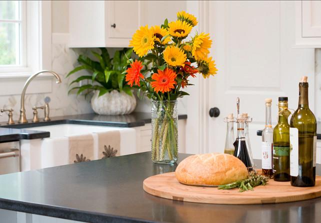 Kitchen Countertop. Kitchen countertop is honed black granite. #Kitchen #Countertop #honedblackgranite