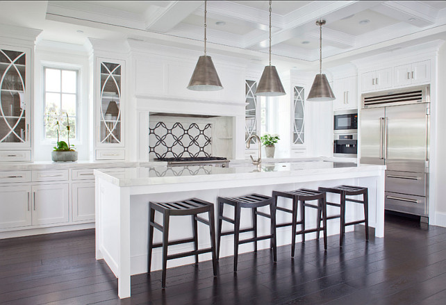 "Kitchen Design Ideas. Kitchen Ideas. Kitchen design. Kitchen cabinet design. Kitchen Paint Color. Kitchen.  The cabinet paint color is ""Farrow & Ball White"".  #Kitchen"