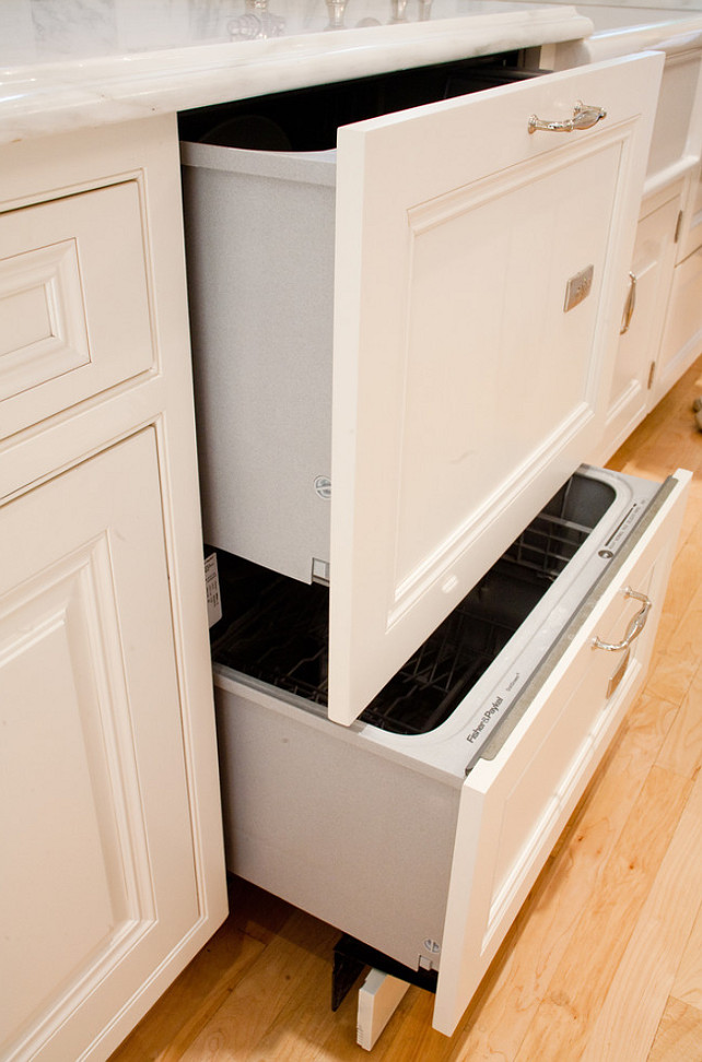 Kitchen Dishwasher Ideas. Dishwasher drawers. #Kitchen #Dishwasher #DishwasherDrawers Kitchen Design Concepts
