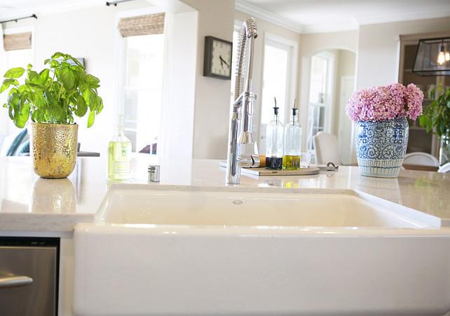 Kitchen Farmhouse Sink and Faucet #KitchenSink #FarmhouseSink Studio McGee.