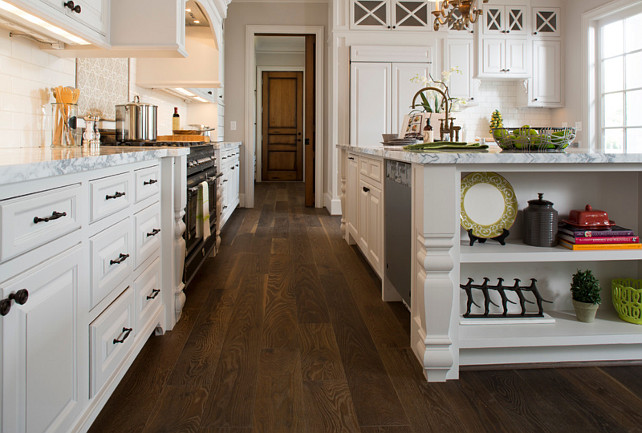 Kitchen Flooring. Kitchen Hardwood Flooring Ideas. The kitchen flooring is engineered hardwood from Monarch Plank flooring -CASTELLO COLLECTION - Cassano. #Kitchen #Flooring #WoodFloor Whitestone Builders.