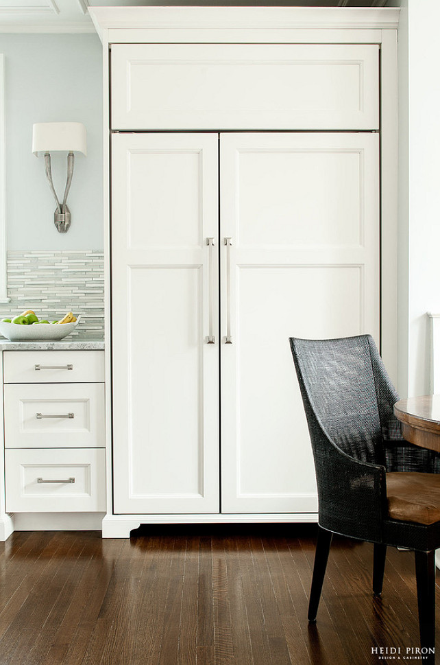 Kitchen Fridge Cabinet. Kitchen Fridge Cabinet Design. Kitchen Fridge Cabinet Ideas. #KitchenFridgeCabinet Heidi Piron Design.