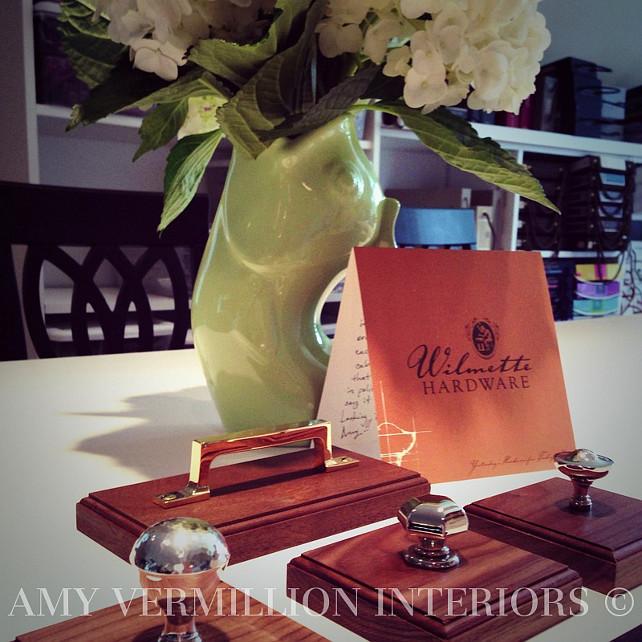 Kitchen Hardware #KitchenHardware  Amy Vermillion Interiors