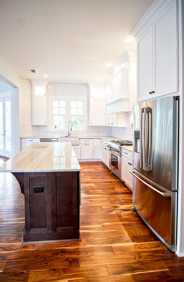 Kitchen Hardwood Flooring. Kitchen wide plank hardwood Floors. #KitchenFlooring #KitcheHardwoodFlooring #WideplankFloors  Glenn Layton Homes