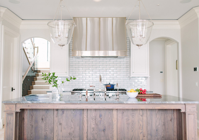 Kitchen Hood. Kitchen Hood Ideas. Custom Stainless Steel Kitchen Hood. #KItchenHood #StainlessSteelHood Kate Marker Interiors.