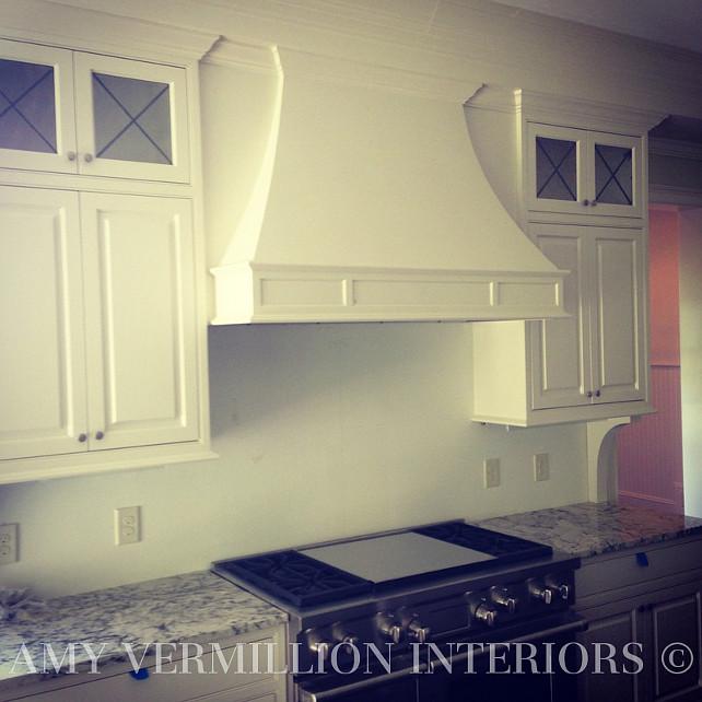Kitchen Hood. Kitchen Reno building a custom kitchen hood. #KitchenHood  Amy Vermillion Interiors