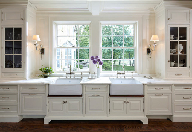 traditional home with classic white kitchen - home bunch