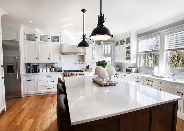 Kitchen Ideas. Kitchen Cabinet Ideas. Kitchen with custom white cabinets. #Kitchen #KitchenWhiteCabinets John Johnstone