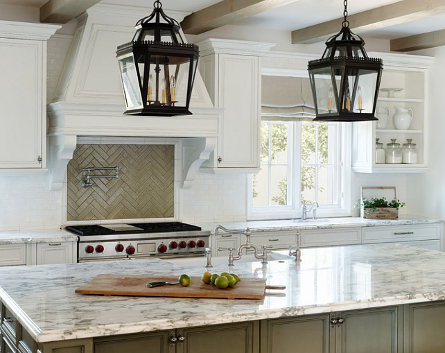 Kitchen Island Lighting. #KitchenLighting #KitchenIsland #Lighting Palm Design Group.