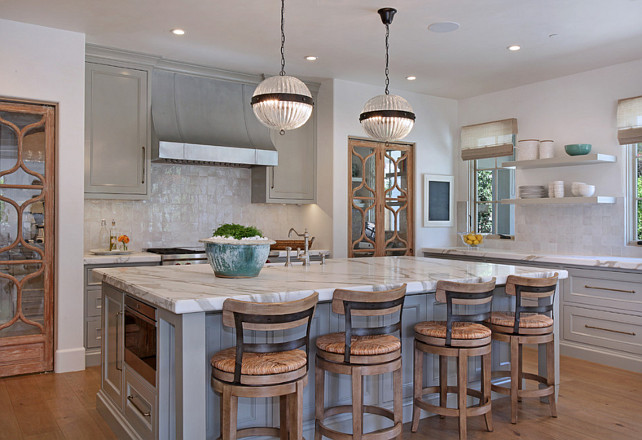 Kitchen Island. Gray Kitchen Island. Kitchen Island Countertop. Kitchen Island Lighting. Kitchen Island Design. #KitchenIsland