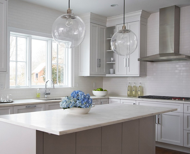 Kitchen Island. White Kitchen Island #Kitchen #KitchenIsland  Calla McNamara Interiors.