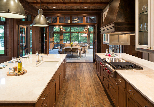 Kitchen Layout. Kitchen Layout. Kitchen opens to sunroom. Kitchen Layout Ideas. #Kitchen #KitchenLayout John Kraemer & Sons. TEA2 Architects