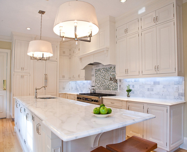 Kitchen Lighting. Kitchen Lighting Ideas. Kitchen Island Lighting #KitchenLighting #KitchenIslandLighting Light fixtures are the Six Light Square Tube Chandelier from Circa Lighting.