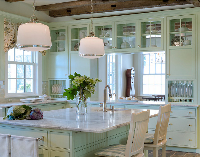 Kitchen Lighting. Kitchen island lighting. The manufacturer is Rejuvenation and it is a Baldwin Pendant model number A3167. #KitchenLighting Donald Lococo Architects.
