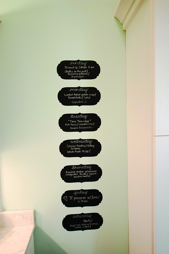 Kitchen Menu painted in chalk paint. This is a great and affordable idea!