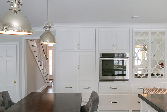 Kitchen Pantry Cabinet Ideas. White Kitchen with wall kitchen pantry cabinet. #Pantry #Kitchen #Cabinet  Redstart Construction.